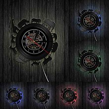 yltian Animal circle vinyl record wall clock wild