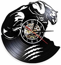 yltian Black leopard wall clock spirit animal