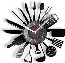 yltian Cooking Set Wall Clock Knife Fork Spoon