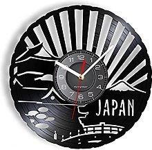 yltian Cultural Art Vinyl Record Wall Clock Home