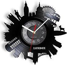 yltian London Cityscape Art Living Room Wall Clock