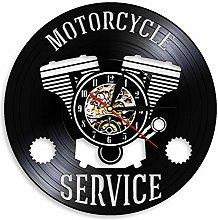 yltian Motorcycle Repair Wall Clock Motorcycle