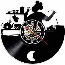 yltian Please enjoy kitchen chef wall clock cafe