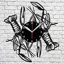 yltian Vinyl record wall clock marine life lobster