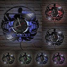 yltian Workout vinyl record wall clock compatible