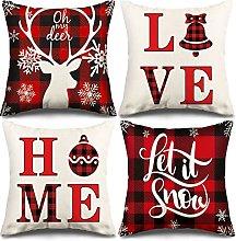 YLXQJIN Christmas Cushion Covers Linen Decorative
