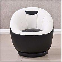 YLYWCG Leather Art Single Sofa Office Study