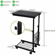 YLYWCG Side Table Laptop Desk Height Adjustable