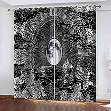 YLZXFY Blackout Curtains for Bedroom Eyelet