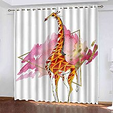 YLZXFY Blackout Curtains for Bedroom Giraffe print