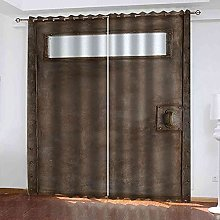 YLZXFY Blackout Curtains for Bedroom Vintage rusty