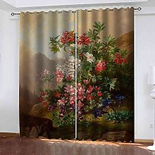YLZXFY Eyelet Blackout Curtains for Living Room