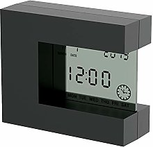 YMFZYM Digital Alarm Clock, Square LCD Calendar