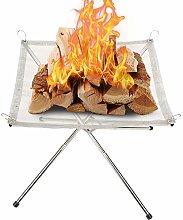 Ymiko Foldable Mesh Fire Pit Portable Fire Pit, 16