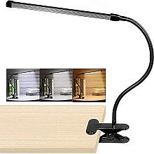 YMLSD 8W Led Clip on Desk Lamp,with a/Black /