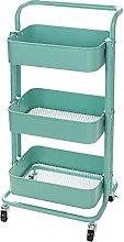 YMLSD Carts,3 Tier Storage Trolley Utility Rolling