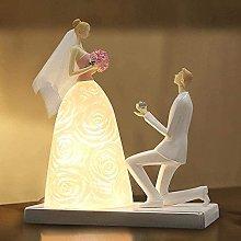 YMLSD Table Lamps,Desk Lamp, Romantic, Bride