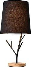 YMLSD Table Lamps,Minimalist Black Fabric Lamp