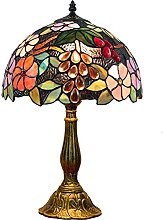 YMLSD Table Lamps,Pastoral Grape 12 inch Stained