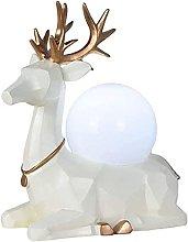 YMLSD Table Lamps,Resin Deer Desk Lamp Creative