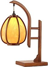 YMLSD Table Lamps,Retro Solid Wood Table Lamp