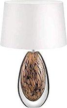 YMLSD Table Lamps,Table Lamp Glazed Amber Desk Lamp
