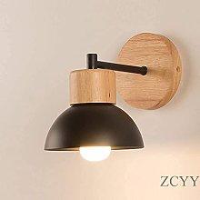 YMLSD Wall Lamps,E27 Modern Creative Wood Wall
