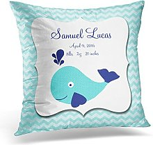 ymot101 Throw Pillow Cover Quote Personalised