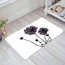 YnimioHOB Artistic Flower Pattern Door Mats Indoor