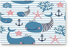 YnimioHOB Cute Cartoon Whale, Anchor and Starfish