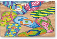YnimioHOB Cute Colorful Beach Slippers Door Mats