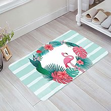 YnimioHOB Flamingos with Garland Door Mats Indoor