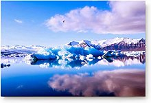 YnimioHOB Glacier Scenery Door Mats Kitchen Floor