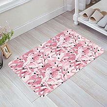 YnimioHOB Pink Flamingos Door Mats Indoor Kitchen