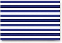 YnimioHOB Simple White and Blue Stripe Pattern