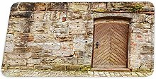 YnimioHOB Wooden Door Farmhouse Countryside Coral