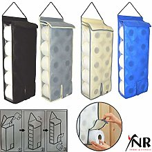 YNR Hanging Toilet Roll Holder Organiser Storage