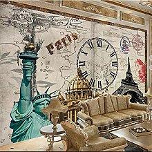 YNYEZBH 3D Bedroom Mural Green Statue Character
