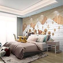 YNYEZBH 3D Bedroom Mural Winter Landscape Wood