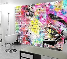 YNYEZBH 3D Living Room Mural Color Abstract Eyes