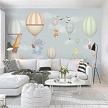 YNYEZBH 3D Living Room Mural Elephant Rabbit