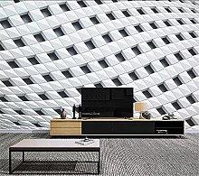 YNYEZBH 3D Living Room Mural Geometric Black and