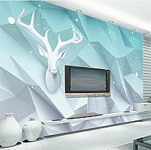 YNYEZBH 3D Living Room Mural Geometric Triangle