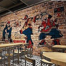 YNYEZBH 3D Living Room Mural Hip Hop Street