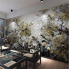 YNYEZBH 3D Living Room Mural Lotus carp Bedroom