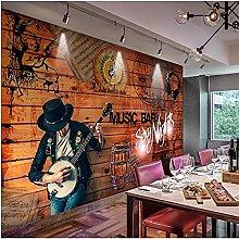 YNYEZBH 3D Living Room Mural Music Instrument