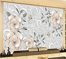 YNYEZBH 3D Living Room Mural Ornaments Flowers