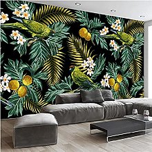 YNYEZBH 3D Living Room Mural Parrot Coconut Leaf