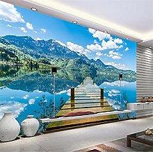 YNYEZBH 3D Living Room Mural Reflection Single