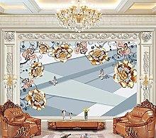 YNYEZBH 3D Living Room Mural Simple Ornaments